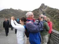 Tourists Take Photos on Badaling Great Wall