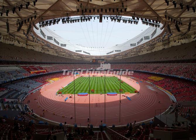 Insides of the beijing bird 39 s nest beijing national for The bird s nest stadium