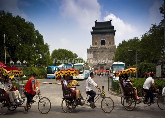 "<a target=""_blank"" href=""http://www.tripchinaguide.com/photo-p114-11269-the-bell-tower-nearby-the-zhonglou-hutong.html"">Visit Hutongs by Rickshaws</a>"