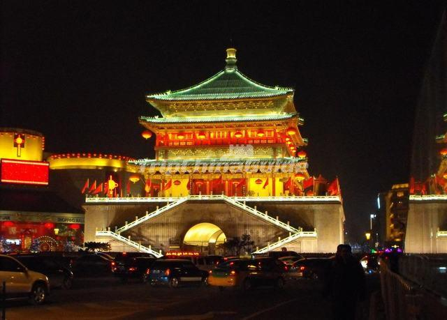 Bell Tower Night View Xian