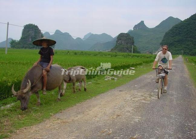 Cycling in Yangshuo China