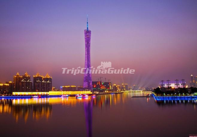 Canton Tower Night Scene Guangzhou