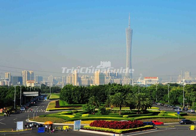 A Distant View of the Canton Tower