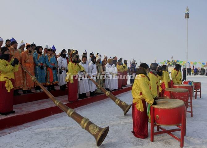 Opening Ceremony of Chagan Lake Ice Fishing Festival