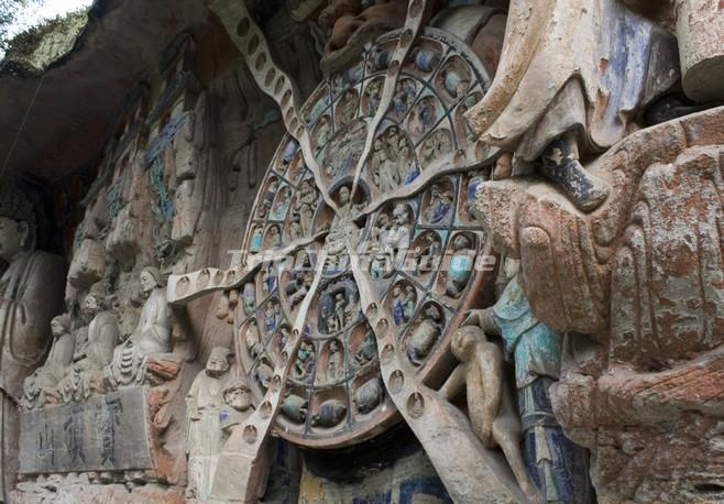 Dazu rock carvings facts history