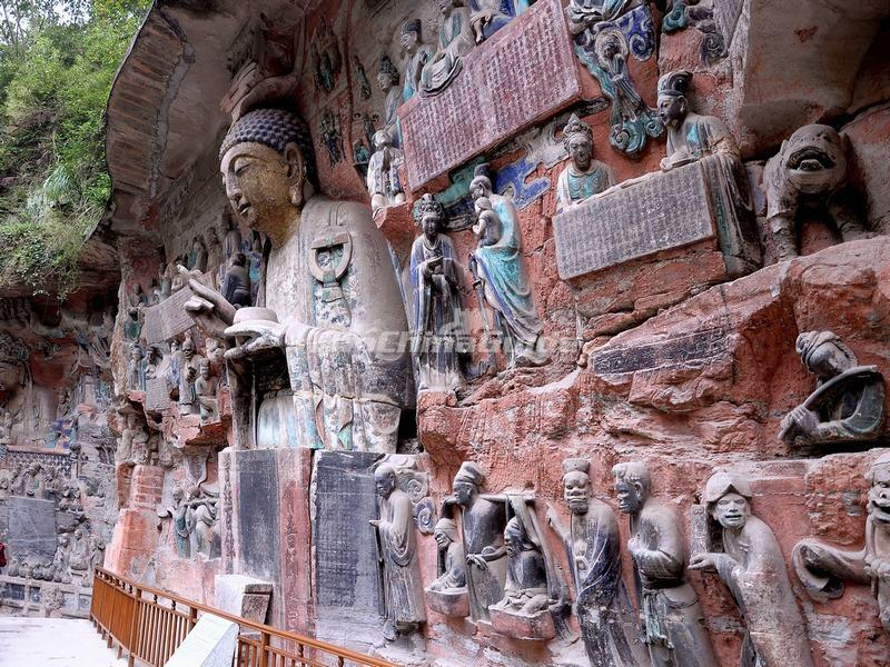 The dazu rock carvings photos