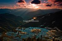 Duoyishu Rice Terraces Sunset Scenery