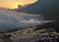 Sunrise at Yuanyang Duoyishu Rice Terraces