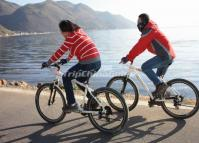 Cycling around Erhai Lake in Dali, China's Yunnan Province