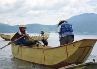 Fishers in Erhai Lake, Dali, Yunnan, China