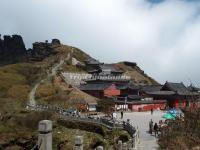 A Temple in Guizhou Fanjing Mountain