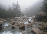 Misty Feicui Valley Huangshan
