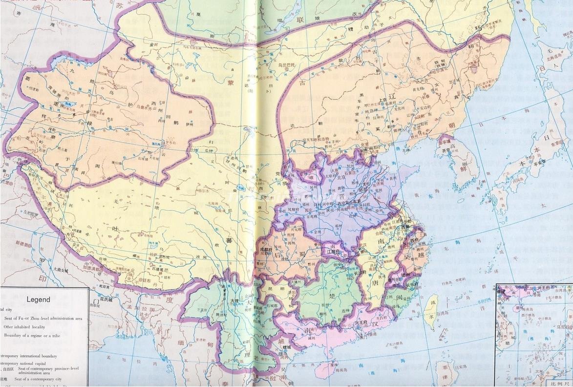 Five Dynasties And Ten Kingdoms Chinese Map