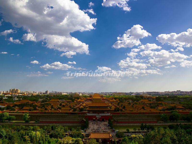 A Panoramic View of the Forbidden City