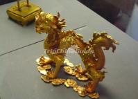 Forbidden City Gold Dragon Sculpture