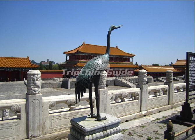 The Carving in the Forbidden City - Crane