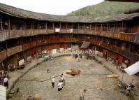Inside An Earth Building in Tianluokeng Village