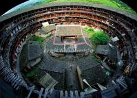 Interior of a Hakka House in Tianluokeng Hakka Tulou Cluster