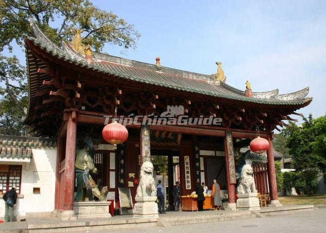 The Entrance Gate of Guangzhou Guangxiao Temple