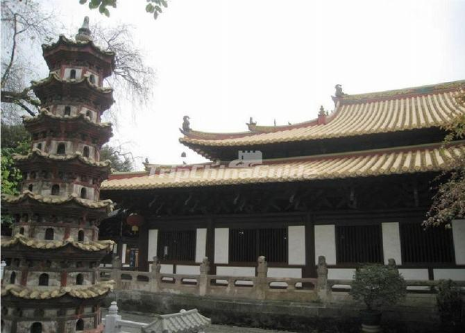 A Pagoda at Guangxiao Temple in Guangzhou
