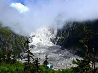 The Glacier Fall in Hailuogou National Glacier Forest Park