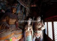 Statues Inside the Shanxi Hanging Monastery