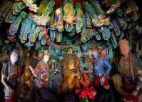 The Statues in The Hanging Temple of Hengshan