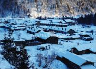 Village in China's Snow Town