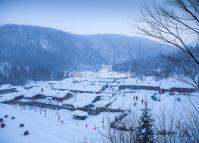 China's Snow Town Scenery