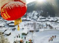 China's Snow Town in Spring Festival