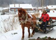 Horse Sledding in China's Snow Town