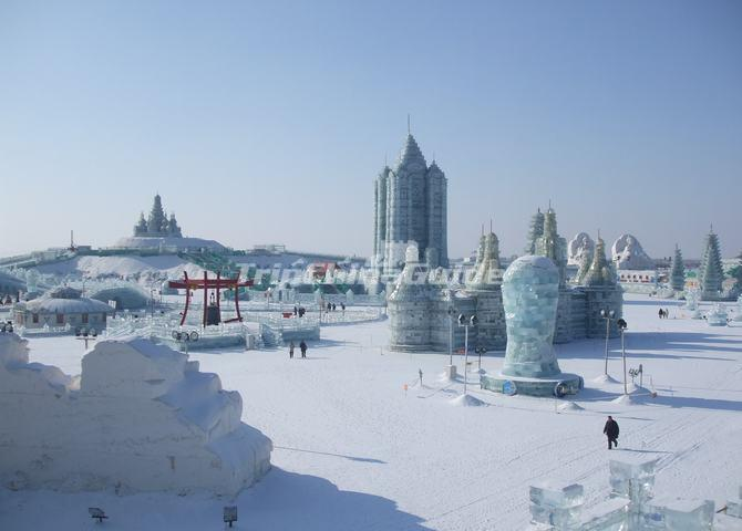 Harbin Ice and Snow World during the Daytime