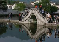 A Bridge at Hongcun Village Huangshan City