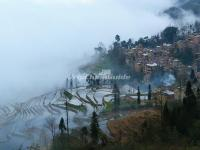 Honghe Hani Rice Terraces in Mist