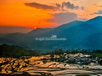 Honghe Hani Rice Terraces Sunset