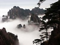 Huangshan Mountain in Fog
