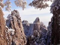 Yellow Mountain in Snow