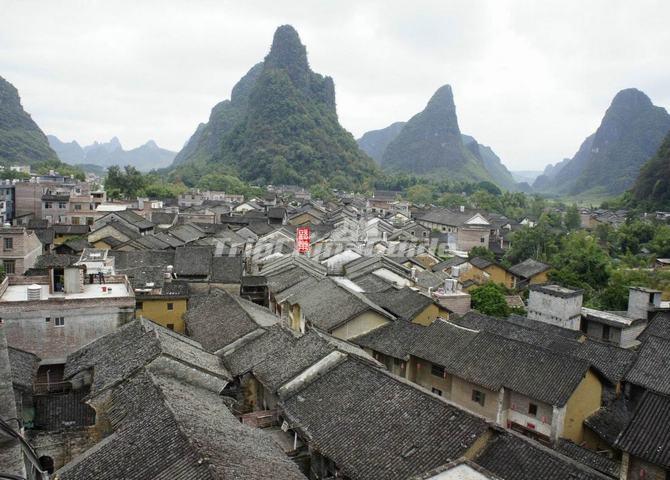 Huangyao Ancient Town Zhaoping Guangxi China Huangyao