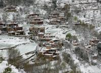 Jiaju Tibetan Village in Snow