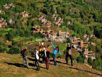Tourists Visit Jiaju Tibetan Village