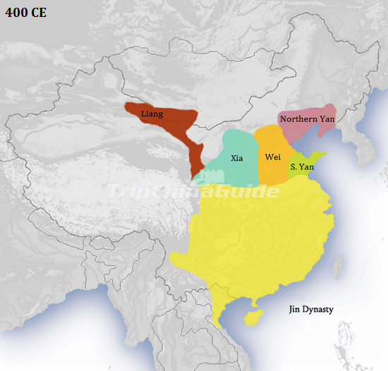 China Map In English.Eastern Jin Dynasty English Map 400 Ce Jin Dynasty Pictures