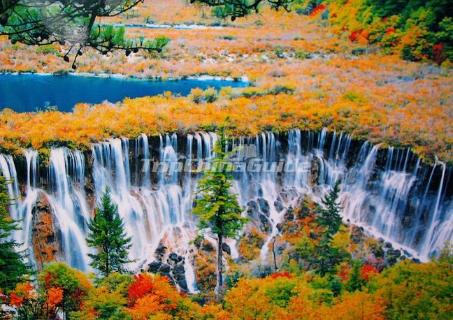 jiuzhaigou valley waterfalls