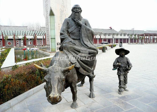 Lao Zi Rides A Cattle - Photos of Laozi
