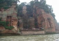 The Giant Stone Buddha at Leshan Mountain Sichuan