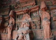 Figure of Buddha Sculpture at Leshan Giant Stone Buddha Scenic Area