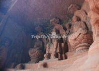 Figure of Buddha Sculptures at Leshan Giant Buddha Scenic Area