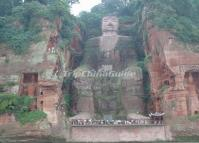 Attractive Giant Stone Buddha at Leshan Mountain China