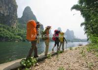 Hiking Along the Li River Guilin