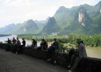 People Enjoy Their Time at Guilin Li River