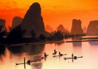 Charming Li River Dusk Scenery Guilin